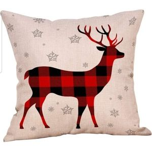 Other - Decorative Reindeer and Snow Flake Pillow NWT